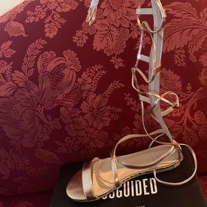 Rose Gold Gladiator Sandals